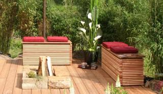 kleine Gärten, Dachterrassen und Balkone