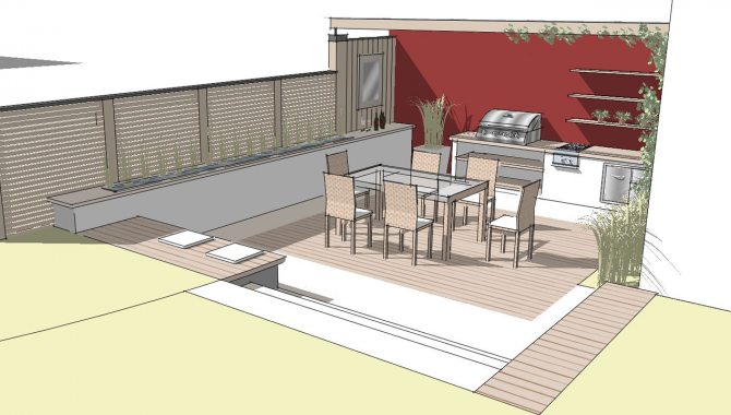 Kleine Gärten Terrasse