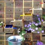 Eine alter Werkzeugschrank wurde umgestaltet - und dadurch zu einem Highlight auf der Gartenmesse in Stuttgart.